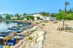 Łodzie rybackie w Carthage Obrazy Stock