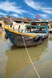 Łodzie rybackie w Hoi obraz royalty free