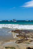Łodzie Rybackie w Mancora, Peru fotografia stock