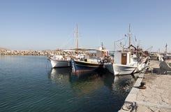 Łodzie rybackie w Naoussa fotografia stock