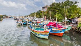 Łodzie rybackie w Negombo fotografia royalty free