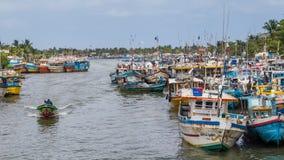 Łodzie rybackie w Negombo obraz stock