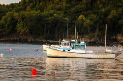 Łodzie Rybackie w Prętowym schronieniu przy zmierzchem Obraz Royalty Free