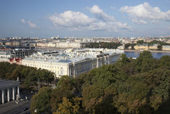 łodzie skierowywają Petersburg rzecznego świętego st widok Obraz Royalty Free