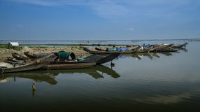 łodzie target220_1_ Vietnam obraz stock
