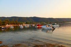 Łodzie w lagunie Fotografia Royalty Free
