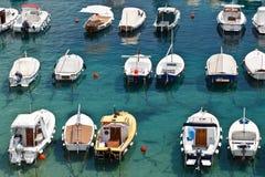 Łodzie w Marina Dubrovnik fotografia stock