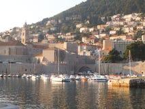 Łodzie w porcie w Dubrovnik fotografia royalty free
