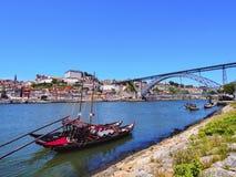 Łodzie w Porto zdjęcie royalty free