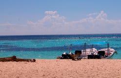 łodzie w republice dominikańskiej Zdjęcie Stock
