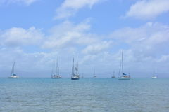 Łodzie w San Blas archipelagu, Panamà ¡ Zdjęcia Royalty Free