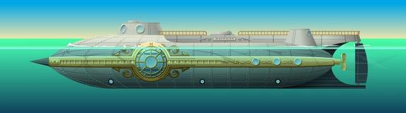 Łodzik łódź podwodna kapitan Nemo Zdjęcia Royalty Free