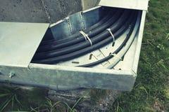 Łokcia Kablowy Trunking Fotografia Stock
