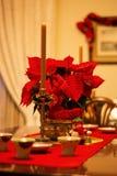 Łomotać stół z wakacje dekoracjami Obraz Royalty Free