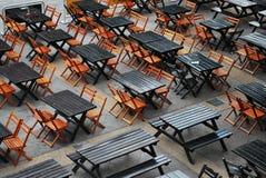 Łomotać stoły Zdjęcie Royalty Free