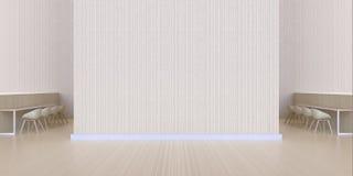 Łomotający prętowego pokazu minimalnego Czyści drewnianą teksturę i izoluje - luksusowy hol i kawiarnia nowożytni obrazy stock