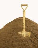 Łopata na piasku Obraz Stock