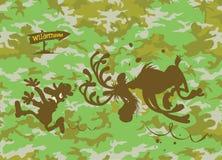 Łosia amerykańskiego cyzelatorstwa myśliwy Fotografia Stock