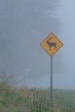 Łosia znaka skrzyżowanie Obraz Stock