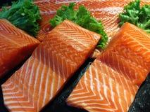 Łosoś ryba w rynku Fotografia Royalty Free