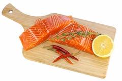 1 łososia surowy stek obraz royalty free