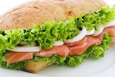 łososiowa kanapka zdjęcia stock