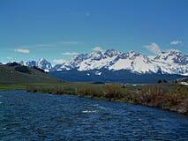 Łososiowa rzeka blisko Stanley, Idaho 6 obrazy royalty free