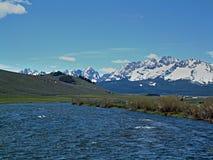 Łososiowa rzeka blisko Stanley, Idaho 5 obraz royalty free