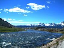 Łososiowa rzeka blisko Stanley, Idaho 1 obrazy royalty free