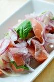 Łososiowa sałatka Fotografia Royalty Free