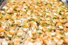 Łososiowe przekąski Fotografia Royalty Free