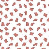 Łososiowy czerwony rybi polędwicowy wektorowy bezszwowy wzór lub tekstura ilustracji