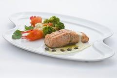 Łososiowy gość restauracji Zdjęcia Stock