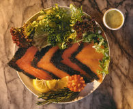łososiowy gravlax scandinavian Obrazy Royalty Free