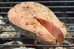 Łososiowy grill Obraz Royalty Free