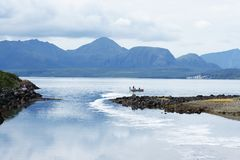 Łososiowy połowu derby piaska punkt Alaska Fotografia Stock