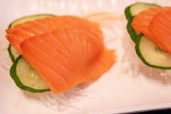 Łososiowy Sashimi, Japoński jedzenie obrazy stock