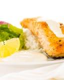 Łososiowy stek z ryż Obraz Royalty Free