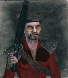 Łotrzyk z pistoletem ilustracja wektor