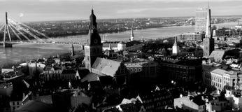 Łotwa dziedzictwa unesco zdjęcia miejsca Riga zimę starego słońca na miasto świata Zdjęcie Stock