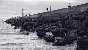 Łowiący w Rybim schronieniu, ChuWei Zdjęcie Stock