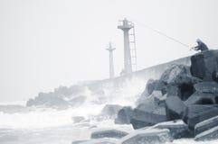 Łowiący w Rybim schronieniu, ChuWei fotografia stock