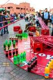 Łowić dla butelek w Marrakesh Obrazy Stock