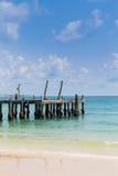 Łowić dok prowadzi morze Fotografia Stock