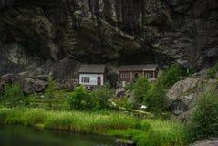 łowić dom w Norway Fotografia Royalty Free