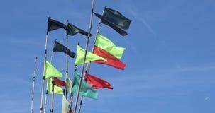 Łowić kolorowe flagi