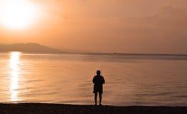 Łowić na morzu Fotografia Stock