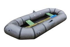 Łowić nadmuchiwaną łódź Fotografia Royalty Free