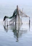Łowić oklepów w włoszczyźnie Lago Di Varano zdjęcie stock
