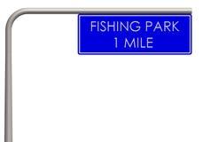 Łowić parkową etykietkę na sposobie Obraz Royalty Free